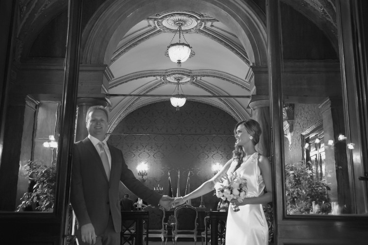 Civil wedding ceremony at Town hall in Rome