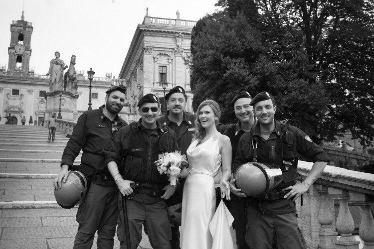 Italian Police & Bride in Rome