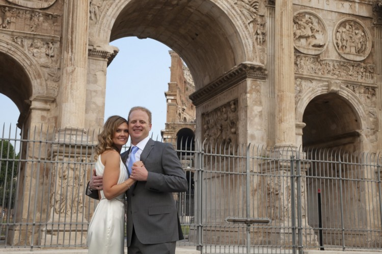 Wedding at a historical site in Rome