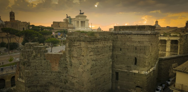 View on the Roman Forum, wedding in rome
