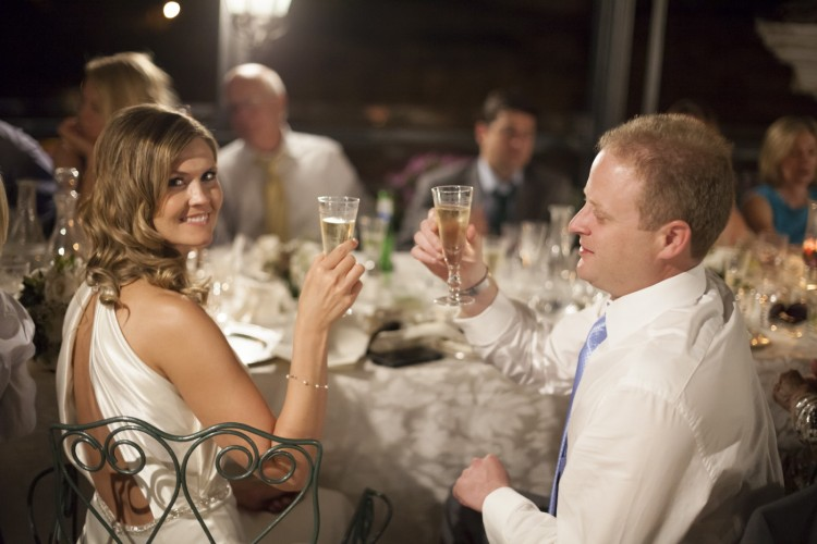 Let's make a toast at a Wedding in Rome
