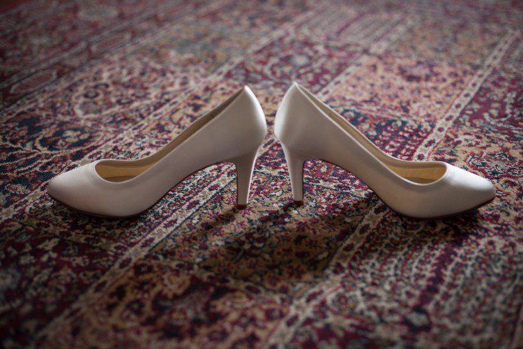 Bride's shoes wedding in Italy