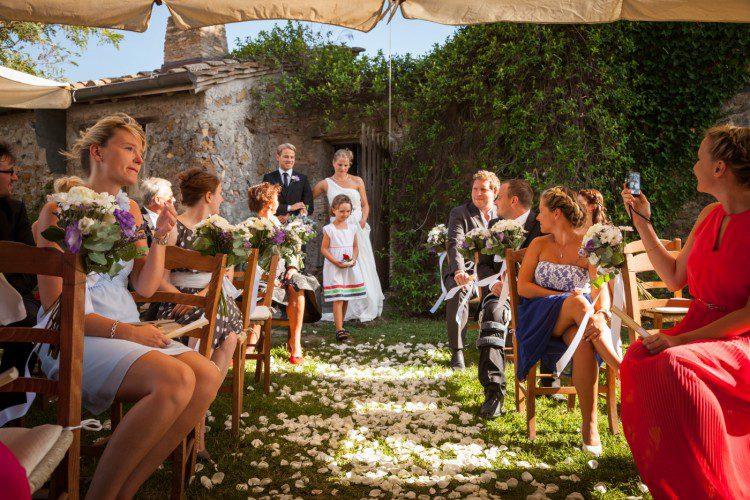Borgo di Tragliata Romantic Garden Wedding ceremony in Rome