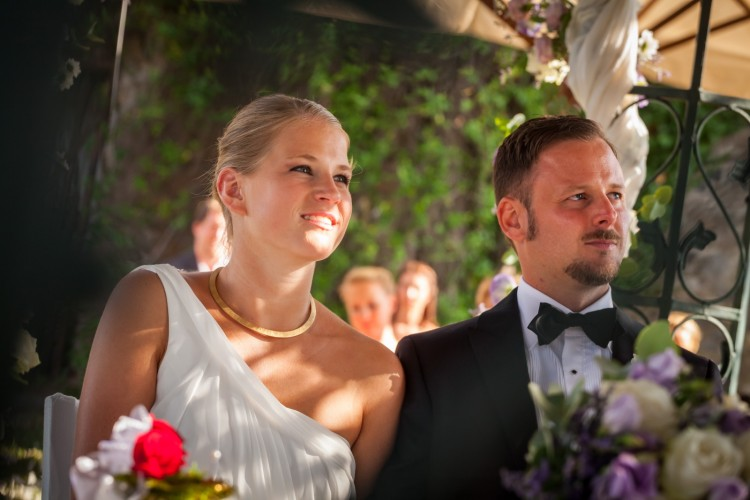Romantic Garden Wedding ceremony in Rome