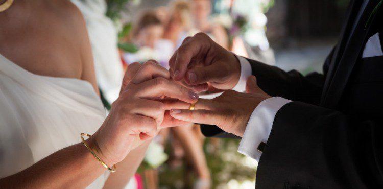 Wedding rings at a Romantic Garden Wedding in Rome