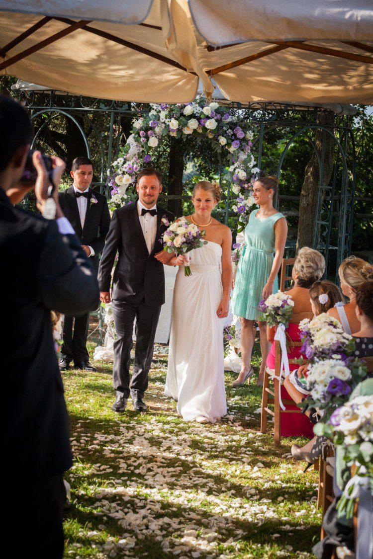 Romantic Garden Wedding in Rome Italy