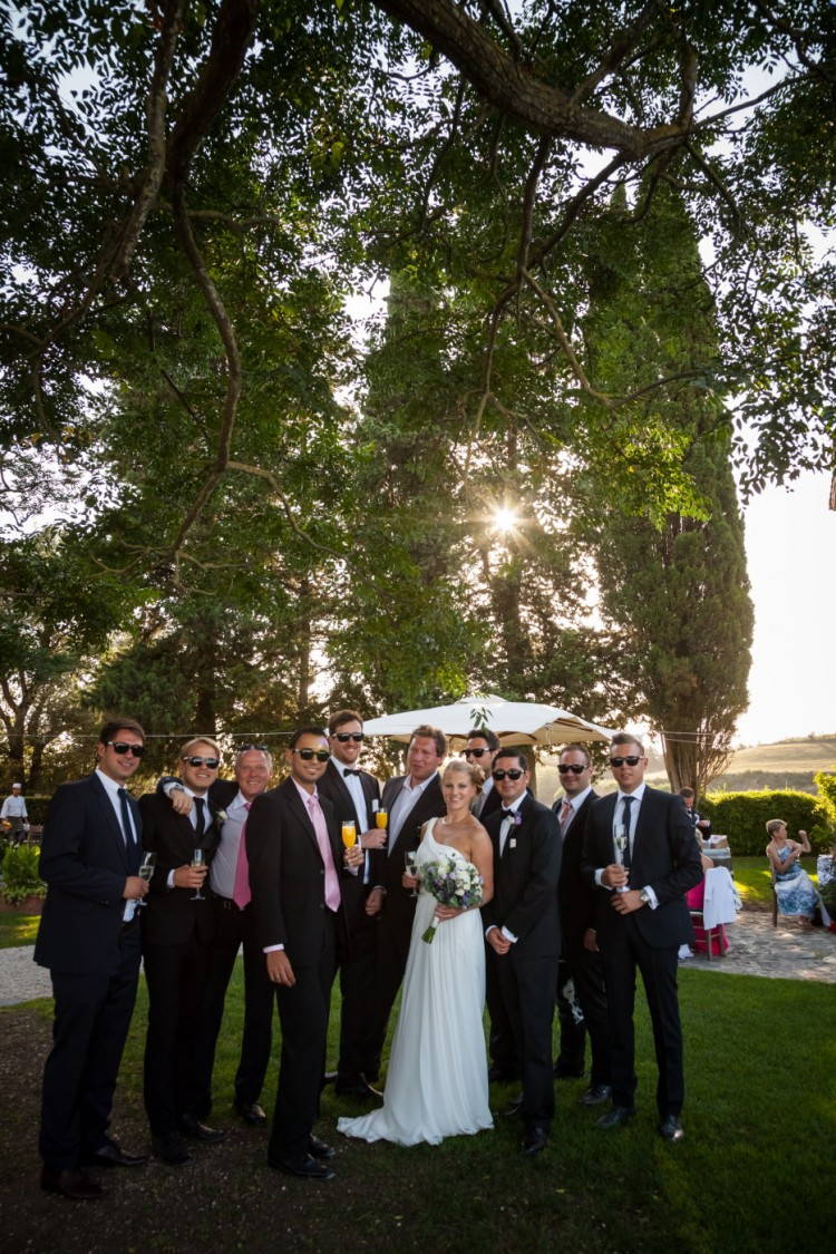 Wedding at Borgo di Tragliata bride and friends group photos