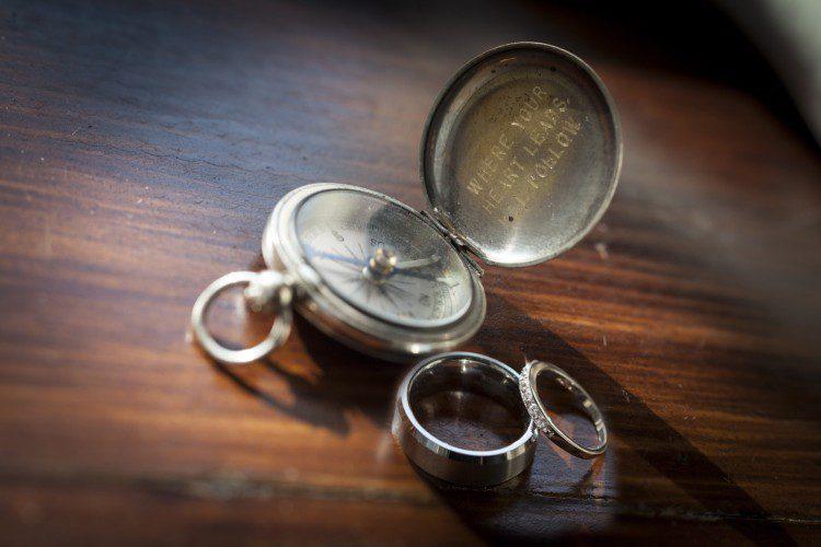 Wedding rings & Compass