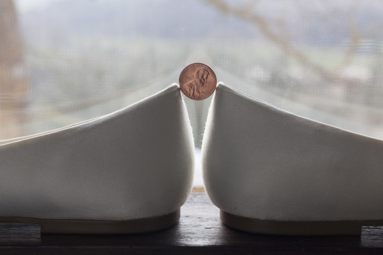 Wedding shoes & one USA penny