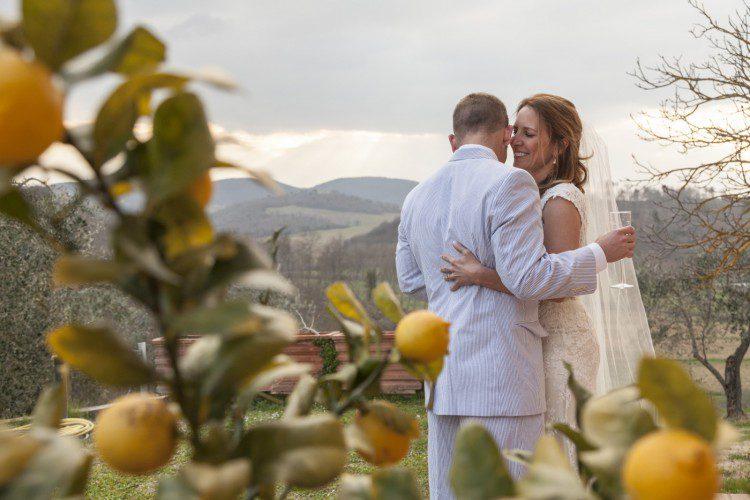 Wedding in Tuscany & lemon tree