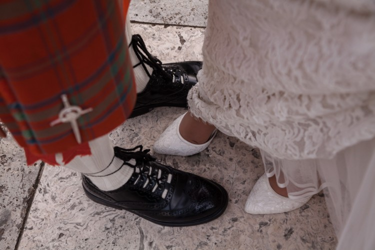 Scottish wedding kilt in Rome