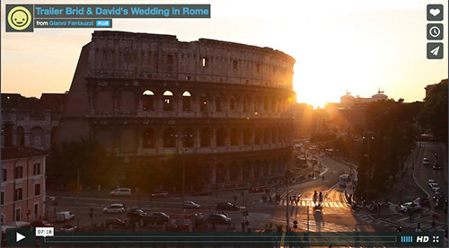 Wedding video Colosseum Rome