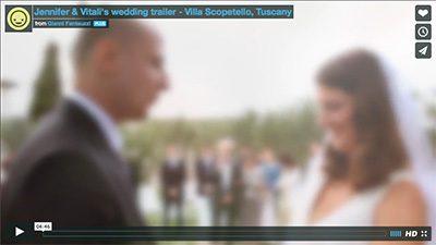 Wedding video Tuscany Villa Scopotello