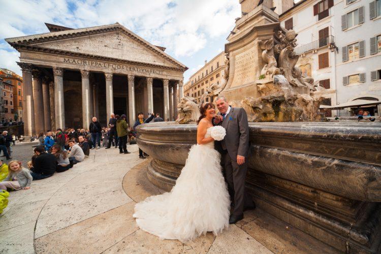 Wedding in Rome photo tour Pantheon