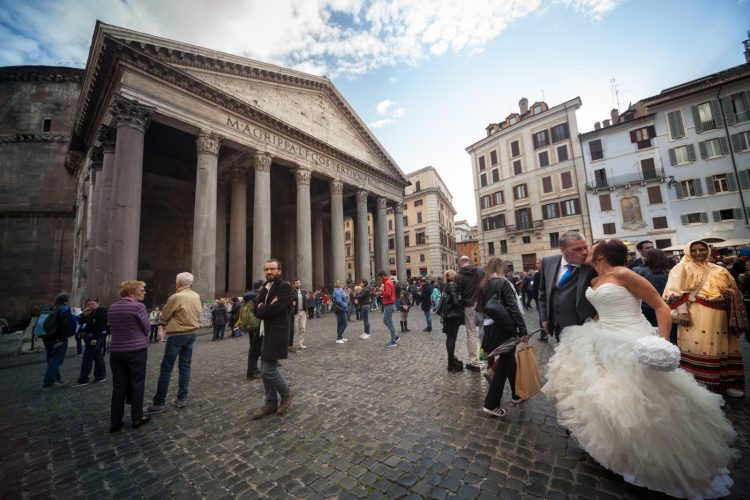 Wedding in Rome photo tour Pantheon