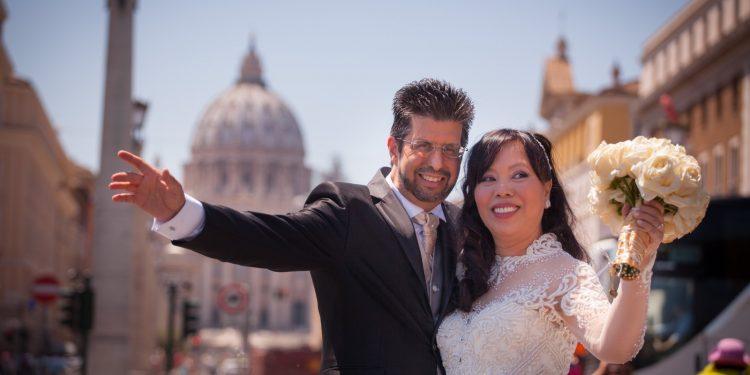 Wedding-at-the-Vatican-Sant'Anna Church & Reception at Les Etoiles Hotel